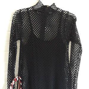 Zara woman long lace dress size small